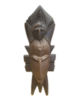 Wooden small passport mask of Senoufu from West Africa