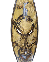 Big Shaded Black-Yellow Elephant Mask - Décor Wall Decor