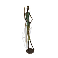 West African Herdsman or 'Berge' Lost Wax Bronze Sculpture
