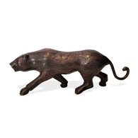 Hand Cast Bronze Statue of a Panther | House of Avana