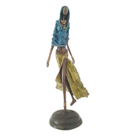Lady Draped in Blue and Yellow | Hand-Cast Bronze | House of Avana