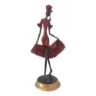 Bronze Statue of a Contemporary African Dancer in Red | House Of Avana