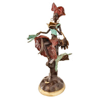 Bronze Figurine of a Woman Perched on a Tree | House Of Avana