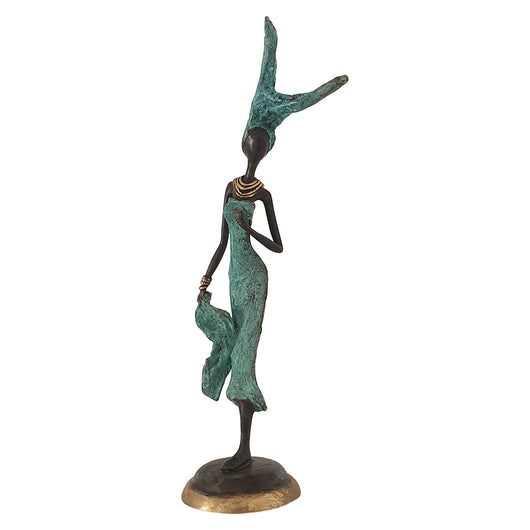 African Woman Lifestyle | Hand-Cast Bronze Statue | House of Avana