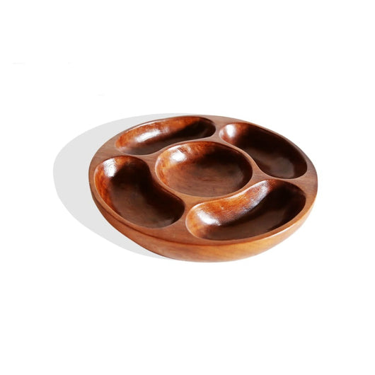 5-Sectioned Round Tray - Kitchen & Dining Dining & Entertaining Dining Room Kitchen & Dining Serveware Serving Platter