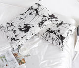 19 Momme Pure Mulberry Silk Pillowcase with Marble Print and Envelope Closure Perfect for Peaceful Sleep