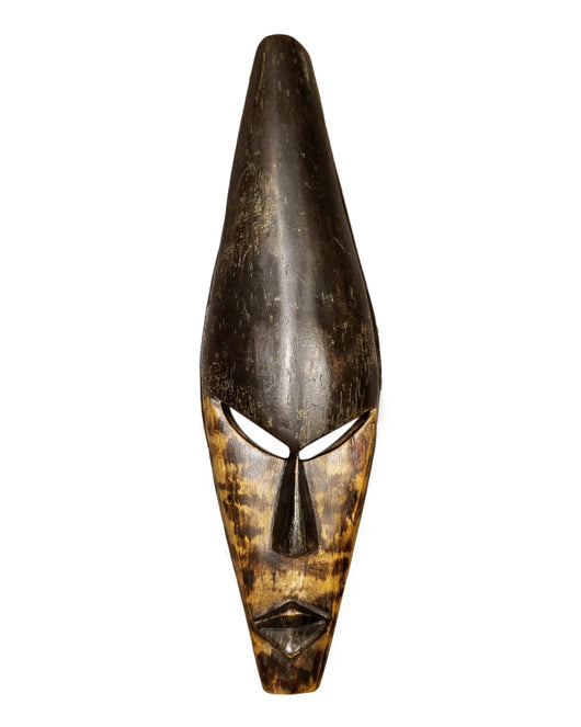 Half Black Half Spotted Medium Ghanian Mask - Décor Wall Decor