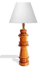 Hand Carved African Vintage Iroko Wood Chess Piece Table Lamp D11cm x H40cm