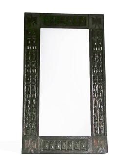Hand-carved wooden Dogon mirror frame