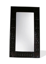 West African Wall Décor Hand Carved Malian Dogon Wall Art Mirror Frame Large Dark L120cmW70cm