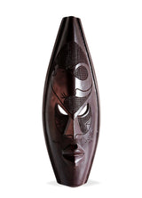 Ghanian Dark Medium Elephant Mask - Décor Wall Decor
