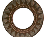 West African Wall Décor Artisan Crafted Round Small Sun Mirror Frame D40cm