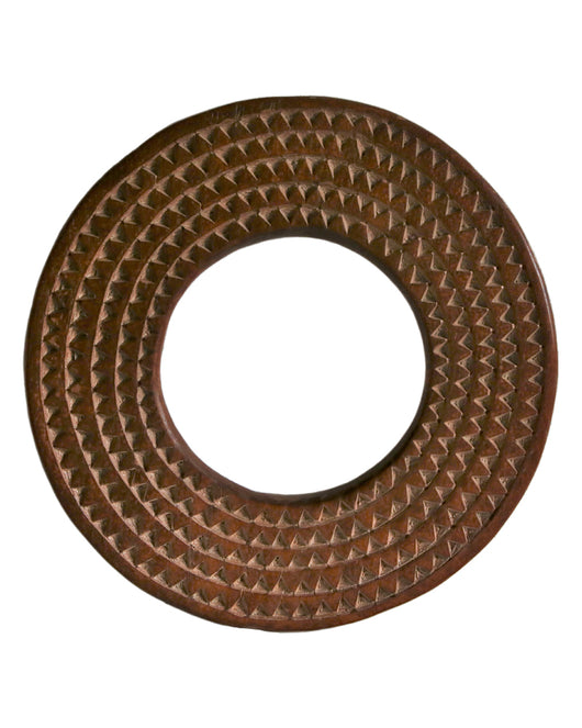 Round Sun Mirror Frame With Concentric Circles - Décor
