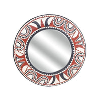 African Wall Decor Artisan Crafted Large Sun Mirror Frame D120cm- Wall Décor- African Wall Décor  Mirror Frames