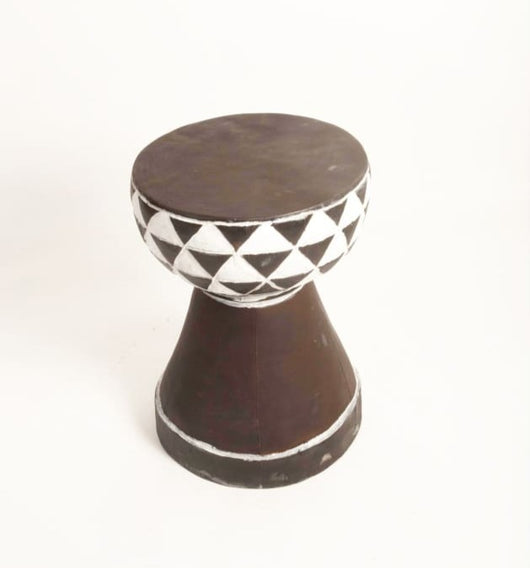 Vintage Sub-Saharan African Drum or Djembe shaped Tabouret/Stool/End Table D30cm x H55cm- Furniture for Living Room