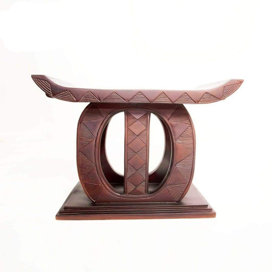 African Akan Royal Queen Tabouret/Stool/Accent Table/End Table - L120cmxW85cmxH65cm- Furniture for Living Room