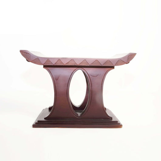 African Akan Tabouret/Stool/Accent Table/End Table - L80cmxW45cmxH50cm- Furniture for Living Room