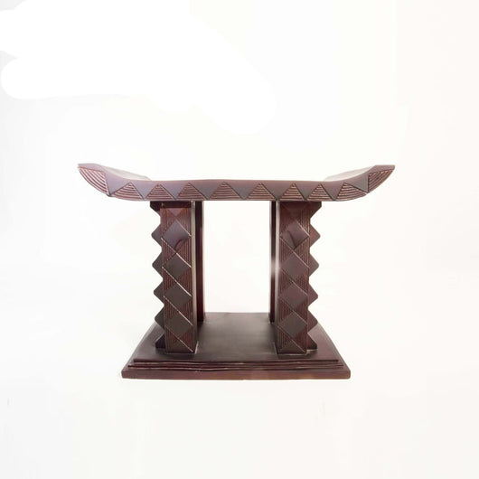 African Asante Ceremonial Tabouret/Stool/Accent Table/End Table - L80cmxW45cmxH50cm-Furniture for Living Room