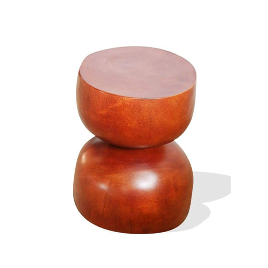 Bell Stool Mahogany - Furniture Furniture Living Room