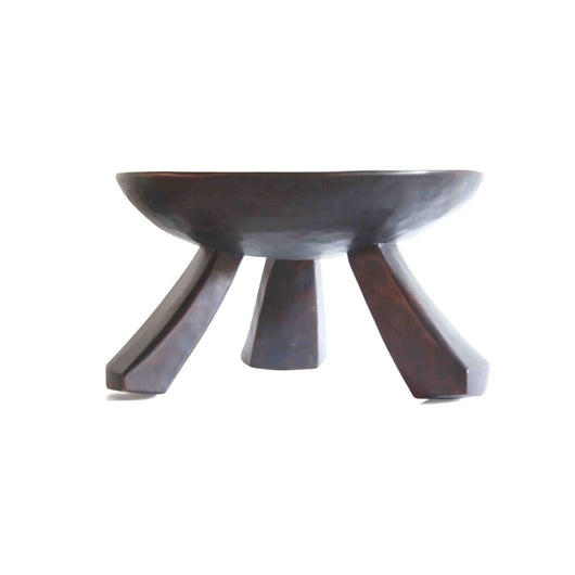 African Traditional 3 legged Circular Tabouret D61cmH31cm - Furniture for Living Room