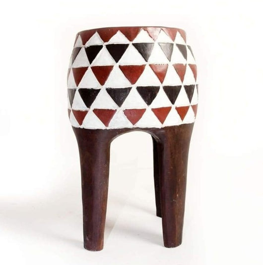 African Drum 'Djembe' Shaped Tabouret/Stool/Accent Table/End Table - D40cmH50cm- Furniture for Living Room