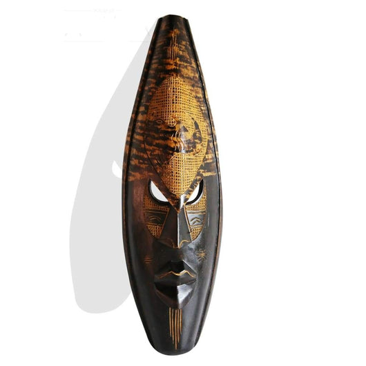 Ghanian Dark Spotted Rhino Mask - Décor Mask Wall Decor