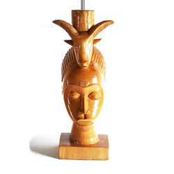 Gouro Mask With Ram On Head - Décor Décor Lamps Living Room Lobby Table Lamp