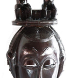 Mask Baule With Twin Statues On Headgear - Décor Wall Decor