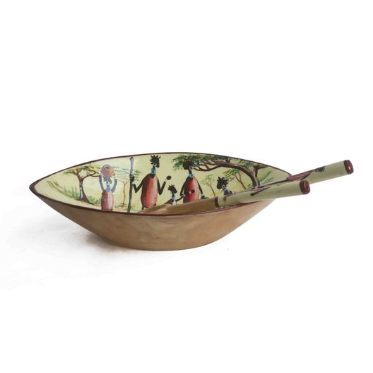 Painted Salad Bowl - Kitchen & Dining Serveware