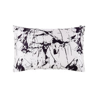 19 Momme Pure Mulberry Silk Pillowcase with Marble Print and Zipper Closure