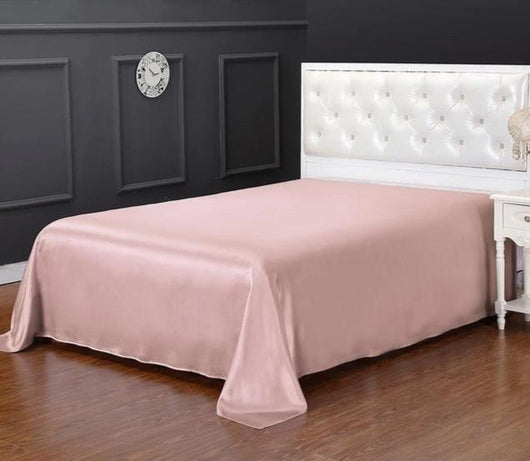 19 Momme 100% Pure Seamless Luxury Natural Mulberry Silk Flat Bed Sheet