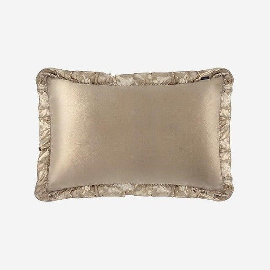 19 Momme Pure 100% Natural Mulberry Silk Pillowcase With Ruffle Trim