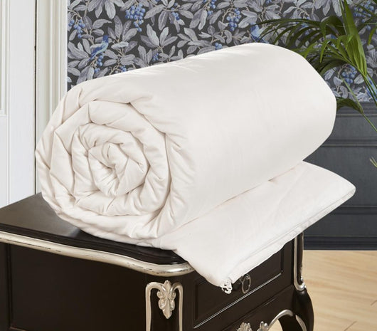 Natural 100% Pure Mulberry Silk Strands Filled and Cotton Covered Duvet Comforter for All Seasons