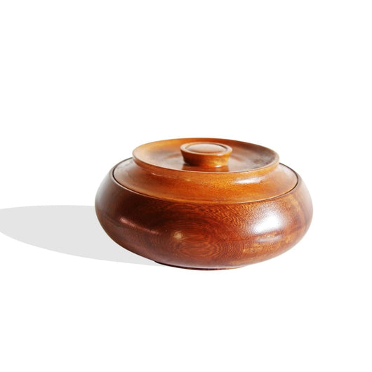 Round Iroko Bread Box - Kitchen & Dining 100% Hand Crafted Africa African Art African Culture