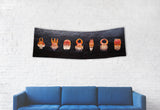 7-Masks Wooden Wall Decoration - Décor