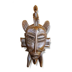 Senoufu Small Mask With Man On Head - Décor Gifts Mask Wall Decor