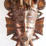 West African Vinatge Tribal Ivory Coast Senufo Traditional Mask of the Guide Mask L16cm x W09cm x H36cm