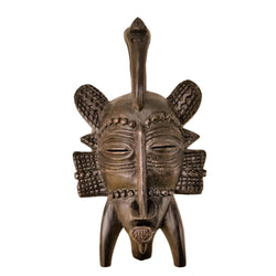 Small African Senoufu Passport Mask With Scarification - Décor Wall Decor