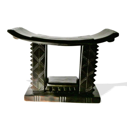 African Akan Ceremonial Tabouret/Wooden Stool/Accent Table/Side Table - L60cmxW30cmxH45cm- Furniture for Living Room