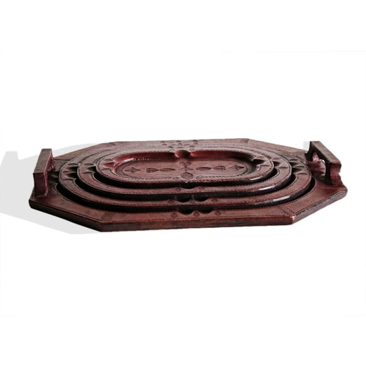 Touareg Set Of 4 Trays Mahogany - Kitchen & Dining Kitchen & Dining