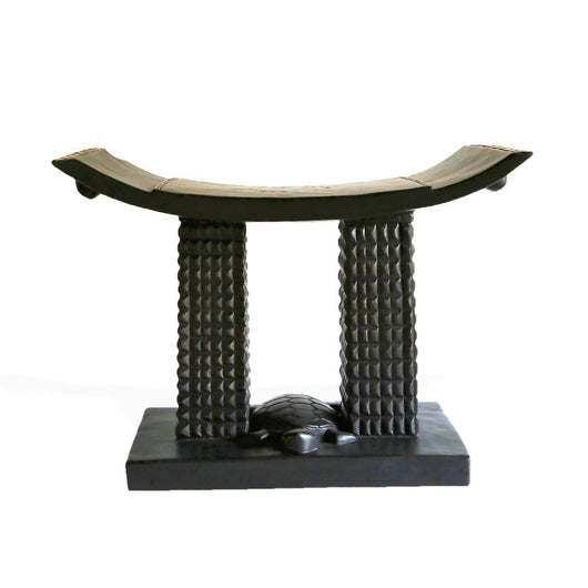 African Akan Turtle Tabouret/Wooden Stool/Accent Table/Side Table - L60cmxW30cmxH45cm- Furniture for Living Room Seating