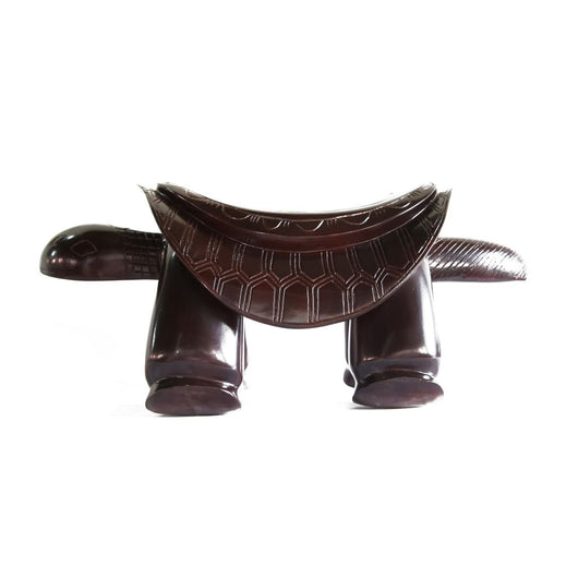 African Wooden Stylized Low Turtle Tabouret or Seat L75cmW30cmH35cm-African Furniture for Living Room