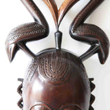 Yaore Mask With Twin Kalao Headgear - Décor Décor Wall Decor