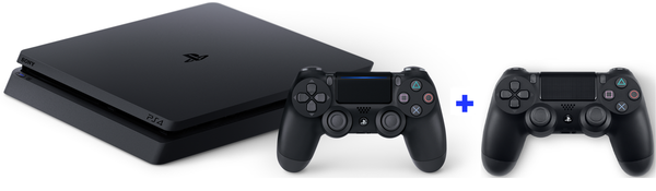 Sony PS4 Slim 1 TB + 2 controllers
