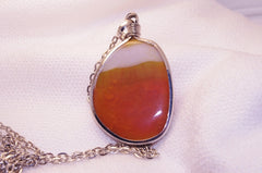 Polished Orange Stone Necklace