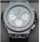 Hublot Big Bang Steel Diamonds Swiss ETA Valjoux 7750 Automatic Watch