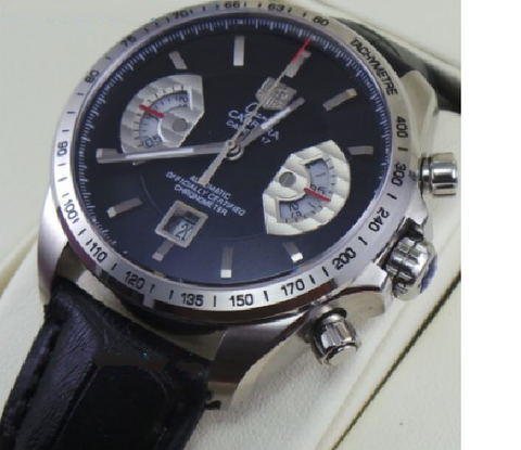 Tag Heuer Grand Carrera Calibre 17 Leather Strap Swiss ETA 7750 Valjoux Movement Automatic Watch