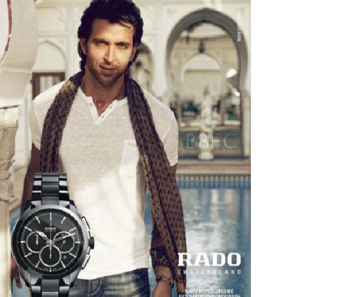 Rado Hyperchrome Black Silver Watch