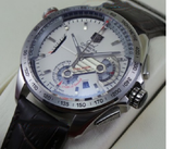 Tag Heuer Grand Carrera Calibre 36 Leather Strap White Swiss ETA 7750 Valjoux Movement Automatic Watch