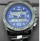 Breitling Aerospace Analog Digital Stainless Blue Watch